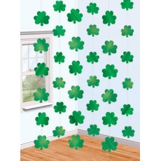 St Patrick's day Shamrock Foil String Hanging Decorations