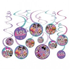 LOL Surprise Spiral Hanging Decorations Pack of 12
