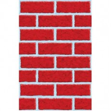 Christmas Party Decorations - Scene Setter Deck The Walls Brick Room Roll