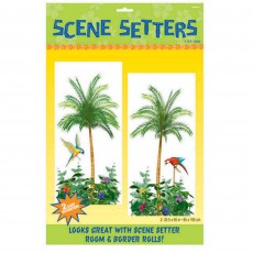 Hawaiian Luau Palm Trees Add-Ons Scene Setters