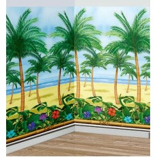 Hawaiian Luau Palm Tree Room Roll Scene Setter