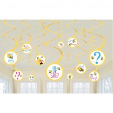 What Will It Bee? Spiral Hanging Decorations Pack of 12