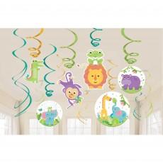 Fisher Price Hello Baby Swirls Hanging Decorations Pack of 12