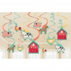 Barnyard Swirl Hanging Decorations