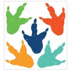 Dinosaur Party Decorations - Dino-Mite Vinyl Footprints Clings