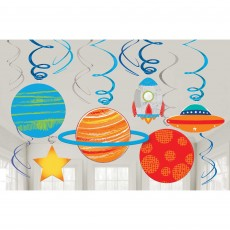 Blast Off Swirl Hanging Decorations