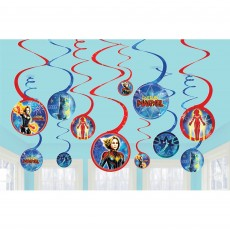 Captain Marvel Spiral Hanging Decorations