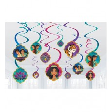 Aladdin Spiral Swirl Hanging Decorations Pack of 12