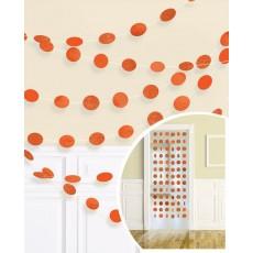 Round Orange Peel String Hanging Decorations 2.1m Pack of 6