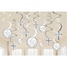 First Communion Holy Day Swirls Hanging Decorations