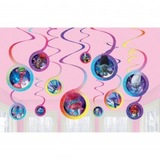 Trolls World Tour Spiral Hanging Decorations Pack of 12