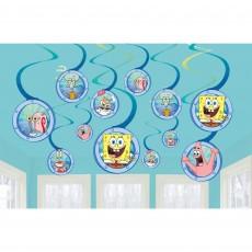 SpongeBob Party Decorations - Hanging Decorations Spiral Swirls