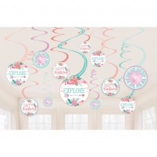 Free Spirit Party Decorations - Hanging Decorations Spiral