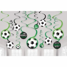 Soccer Goal Getter Spiral Hanging Decorations