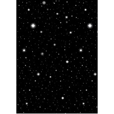 Hollywood Black Starry Nights Wall Scene Setters