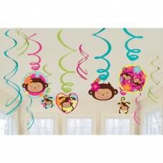 Monkey Love Swirls Hanging Decorations