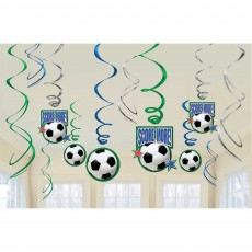 Soccer Fan Swirl Hanging Decorations