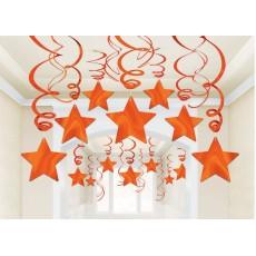 Orange Peel Foil Swirl Hanging Decorations
