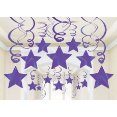 Purple New Shooting Stars Hanging Decorations