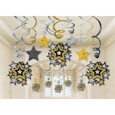 Hollywood Swirls Hanging Decorations Pack of 30