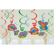 Dinosaur Swirls Hanging Decorations