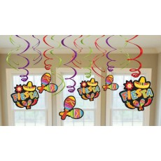 Mexican Fiesta Swirl Value Hanging Decorations