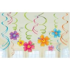 Hawaiian Party Decorations Swirls Hanging Decorations
