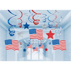 USA Patriotic Hanging Decorations