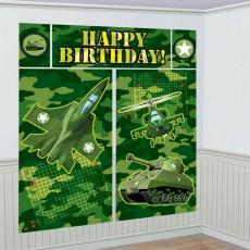 Camouflage Happy Birthday! Scene Setters 5 Items