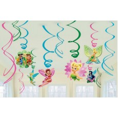 Disney Fairies Tinker Bell & Best Friends Fairies Swirls Hanging Decorations