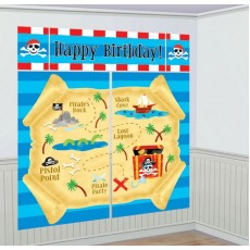 Pirate's Treasure Pirate Party Scene Setters Pack of 5
