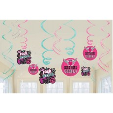 Rocker Princess Swirl Hanging Decorations