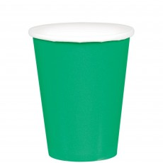 Festive Green Paper Cups 266ml Pack of 20