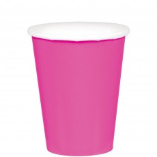 Bright Pink Paper Cups 266ml Pack of 20