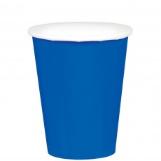 Bright Royal Blue Paper Cups 266ml Pack of 20