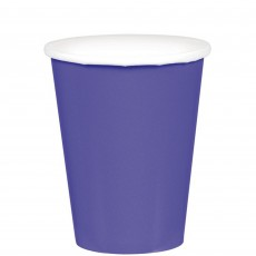 New Purple Paper Cups 266ml Pack of 20