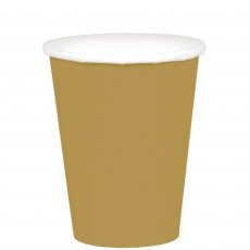 Gold Paper Cups 266ml Pack of 20