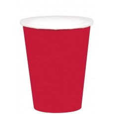 Apple Red Paper Cups 266ml Pack of 20
