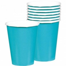 Caribbean Blue Paper Cups 266ml Pack of 20