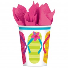 Hawaiian Party Decorations Flip Side Paper Cups