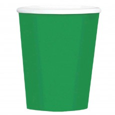 Festive Green Big Party Coffee Paper Cups 354ml Pack of 40