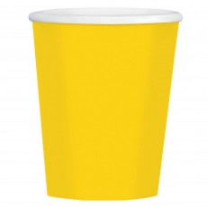 Sunshine Yellow Big Party Coffee Paper Cups 354ml Pack of 40