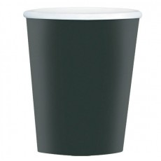 Jet Black Big Party Coffee Paper Cups 354ml Pack of 40
