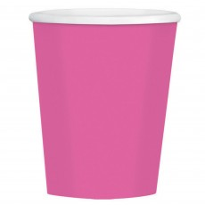 Bright Pink Paper Cups 354ml Pack of 40