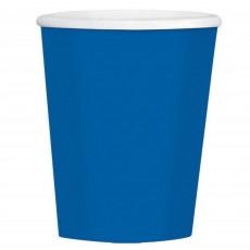 Bright Royal Blue Big Party Coffee Paper Cups 354ml Pack of 40