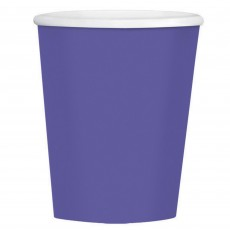 New Purple Big Party Coffee Paper Cups 354ml Pack of 40