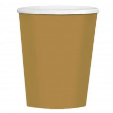 Gold New Big Party Coffee Paper Cups