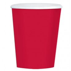 Apple Red Big Party Coffee Plastic Glasses 354ml Pack of 40