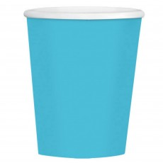 Caribbean Blue Big Party Coffee Paper Cups 354ml Pack of 40