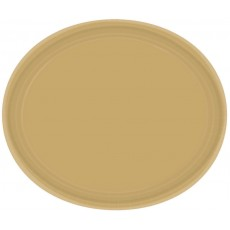 Oval Gold Banquet Plates 30cm Pack of 20